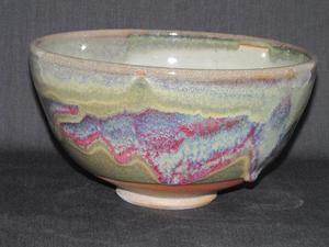 Medium gwen red grn bowl