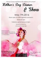 Mothers Day Dinner and Show 2016 - start May 07 2016 0600PM