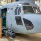 Visitors can see a large collection of vintage helicopters on display