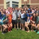 Charles and Elizabeth Muscato with their children Mikey and Jenny and dozens of Unionville High School students took part in an ALS Bucket Challenge on June 2