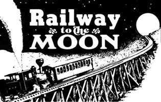 Steampunk railway2moon