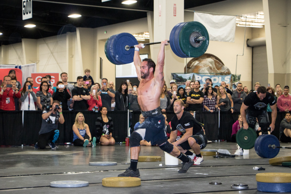 Competitors compete against each other during a charity throwdown. —CrossFit OUR