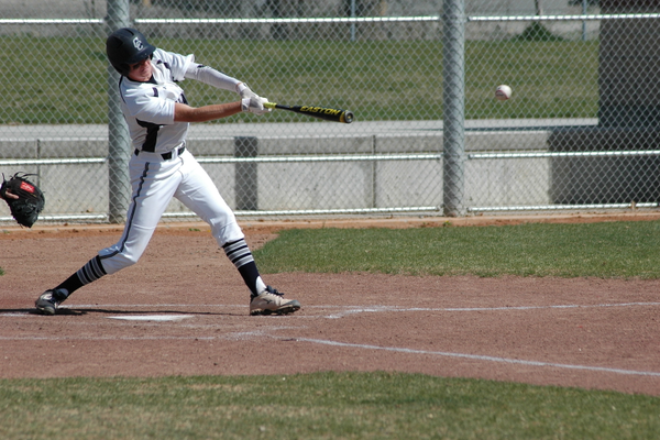 Caydon Lawson gets a hit in an earlier Corner Canyon baseball game. Lawson, a senior, hit seven extra-base hits this year.