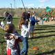 Kids learn how to cast during the youth fishing program. —Josh Allred