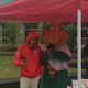 The Lowell Spinners Canaligator was on hand  at the Tewksbury Police Bike Safety Rodeo.