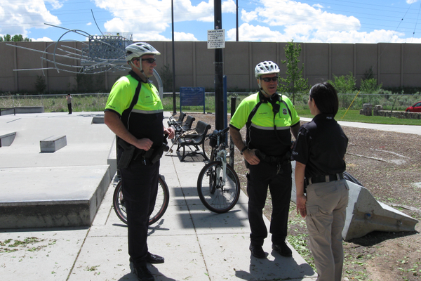 The bike patrol is made up of a sergeant and five officers assigned to the east side of Salt Lake City. – Travis Barton