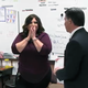 The Jordan Education Foundation surprises Carollee Tautkus in class by bringing balloons and an award to her class. – Jordan School District