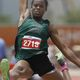 Jasmine Moore broke the nearly 20-year triple jump national freshman class record with a wind-legal leap of 42-01.75.
