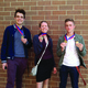 Logan Johnson, Olivia Casper and Grayson O'very show off the third place medals they were awarded at the state drama competition. –Olivia Casper