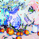 Etherington's work expresses her love of bright and bold colors. —Linda Etherington