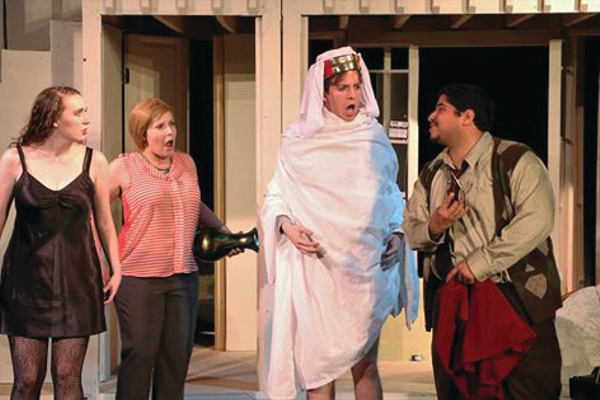 "The production continues to go off the rails during a showing of ""Noises Off.""—Scott Twitchell."