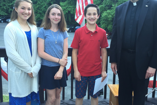 St. James Students Participate in Flag Day Ceremonies