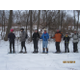 When nature cooperates, groups go snowshoeing on local trails, such as the Brandywine Cree