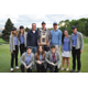 Members of the Corner Canyon girls golf team hold the school's first state trophy in a sanctioned team sport. The girls won the 4A golf title May 16–17 at Wasatch Mountain Golf Course. –Photo by Debbie Connell