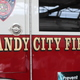 Decal of a fire engine parked in Sandy City Fire Station 31 on June 30, 2016. (Photo: Chris Larson, Sandy City Journal)