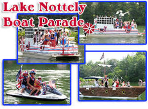 Lake Nottely Boat Parade - start Jul 02 2016 1030AM