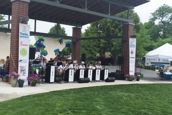 Stratford Big Band playing at Imperial Park to kick off the event —Natalie Mollinet