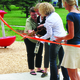 The Fairmont Park playground was officially opened on Friday, June 10, with a ribbon-cutting ceremony. —Travis Barton