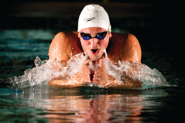 Braden Jensen posted a 1:9941 time in the 100 breaststroke. It's his least favorite event, yet he's second-fastest on the team. –Suzette Jensen