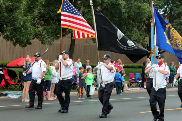 Color Guard at the 2016 Maple Grove Days Pierre Bottineau Parade along 89th Avenue Thursday, July 14