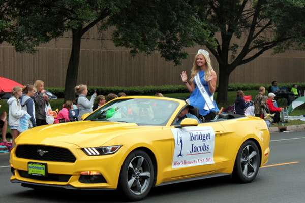 Miss Minnesota at the 2016 Maple Grove Days Pierre Bottineau Parade along 89th Avenue Thursday, July 14