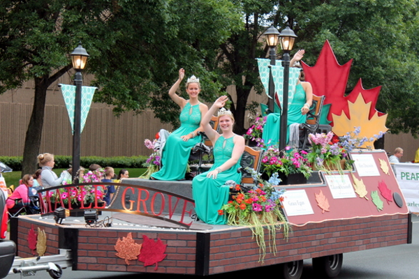 Maple Grove Ambassadors at the 2016 Maple Grove Days Pierre Bottineau Parade along 89th Avenue Thursday, July 14