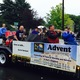 Advent Lutheran Church at the 2016 Maple Grove Days Pierre Bottineau Parade along 89th Avenue Thursday, July 14