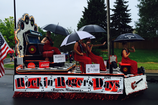Rockin' Rogers Days at the 2016 Maple Grove Days Pierre Bottineau Parade along 89th Avenue Thursday, July 14
