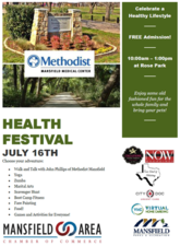 Health Festival Methodist  - start Jul 16 2016 1000AM