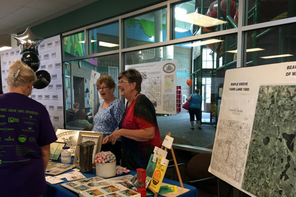 The Maple Grove Historical Society at at the Maple Grove Days Business Expo 2016. (photo by Wendy Erlien)