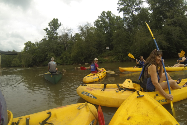 Prime Time Hikers also enjoy kayaking adventures.