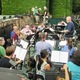 The pit orchestra warms up before the dress rehearsal on July 18.