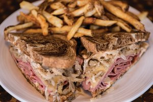 Fork in the Roads Reuben sandwich
