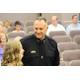 Now Deputy Chief of Police Bill O'Neal smiles at his daughter, Kalle, as Police Chief Kevin Thacker introduces Deputy Chief O'Neal to the Sandy City Council on uly 19, 2016. (Photo: Chris Larson, Sandy City Journal)