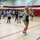Utah Jazz dance team members lead Riverview Junior High students in a routine during the May 5 Utah JazzFit program held at their school. — Julie Slama