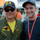 Editor Erik Dittmann with Navy Pilot Eric Dittman