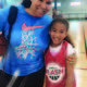 Natalie Williams, who was inducted into the Women's Basketball Hall of Fame, puts her arm around her daughter, Ayla. Williams plays the role of mom and coach for her three daughters. –Natalie Williams