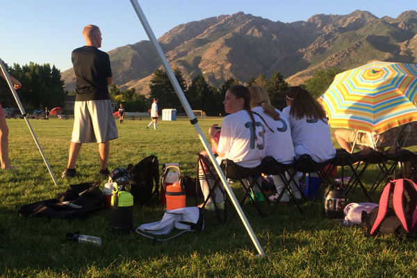 Utah Surf 14-year-olds wait their turn at the Impact United tournament. The Surf won the match 9-0. – Greg James
