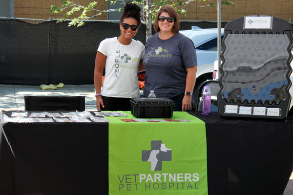 Vet Patners Pet Hospital at Woofstock, presented by Good Karma Animal Rescue of MN, at The Shoppes at Arbor Lakes Aug. 6, 2016.