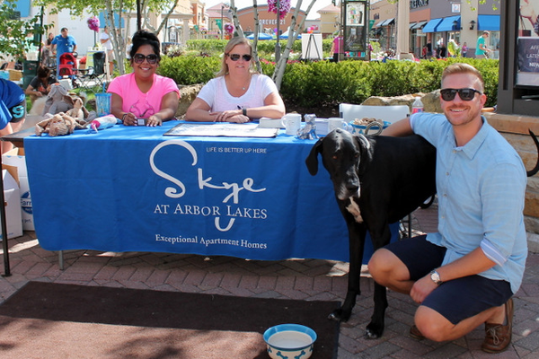 Skye at Arbor Lakes at Woofstock, presented by Good Karma Animal Rescue of MN, at The Shoppes at Arbor Lakes Aug. 6, 2016. (photo by Wendy Erlien)