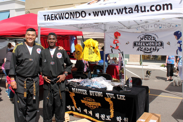 Wold Taekwondo Academy at Woofstock, presented by Good Karma Animal Rescue of MN, at The Shoppes at Arbor Lakes Aug. 6, 2016. (photo by Wendy Erlien)