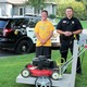 Maple Grove resident Paul Kochenderfer and Maple Grove Police Officer Dave Goggins Photo by Doug Erlien