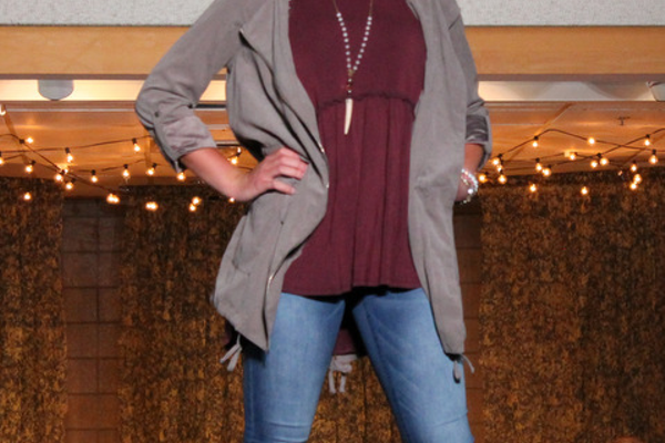 Julia W. models clothes from Mainstream Boutique during the annual Back-to-School Fashion Preview Aug. 17, 2016 at the Maple Grove Community Center. (Photo by Wendy Erlien)