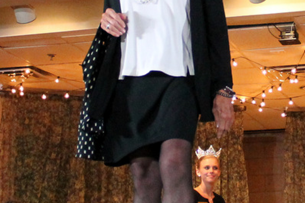 Madeleine G. models clothes from J. Jill during the annual Maple Grove Fashion Flair August 18, 2016 at the Maple Grove Community Center. (Photo by Doug Erlien)