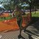 Derek Jones begins the running portion of the Taylorsville Triumph Youth and Family Triathlon. –Tori La Rue