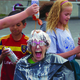New Liberty Elementary Principal Jill Burnside boosts school spirit by becoming an ice cream sundae. — Julie Slama