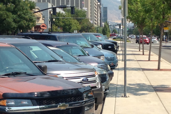 Parking stalls fill up in busy areas – Jordan Greene