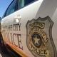 Salt Lake City Police cruiser parked outside the courthouse. – Jordan Greene