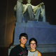 Diana Mota and Jonathan D'Cruz stand before the Lincoln Memorial in Washington, D.C. –Jose Enriquez