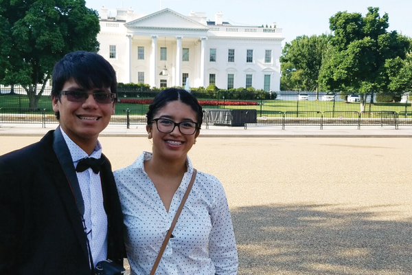 Diana Mota and Jonathan D'Cruz were nominated by Latinos in Action to attend the Beating the Odds Summit in Washington, D.C. as students who overcame adversity to inspirer their community. Mota recently graduated from Granger High School. –Jose Enriquez